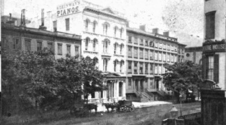 The original Steinway Hall on East 14th Street