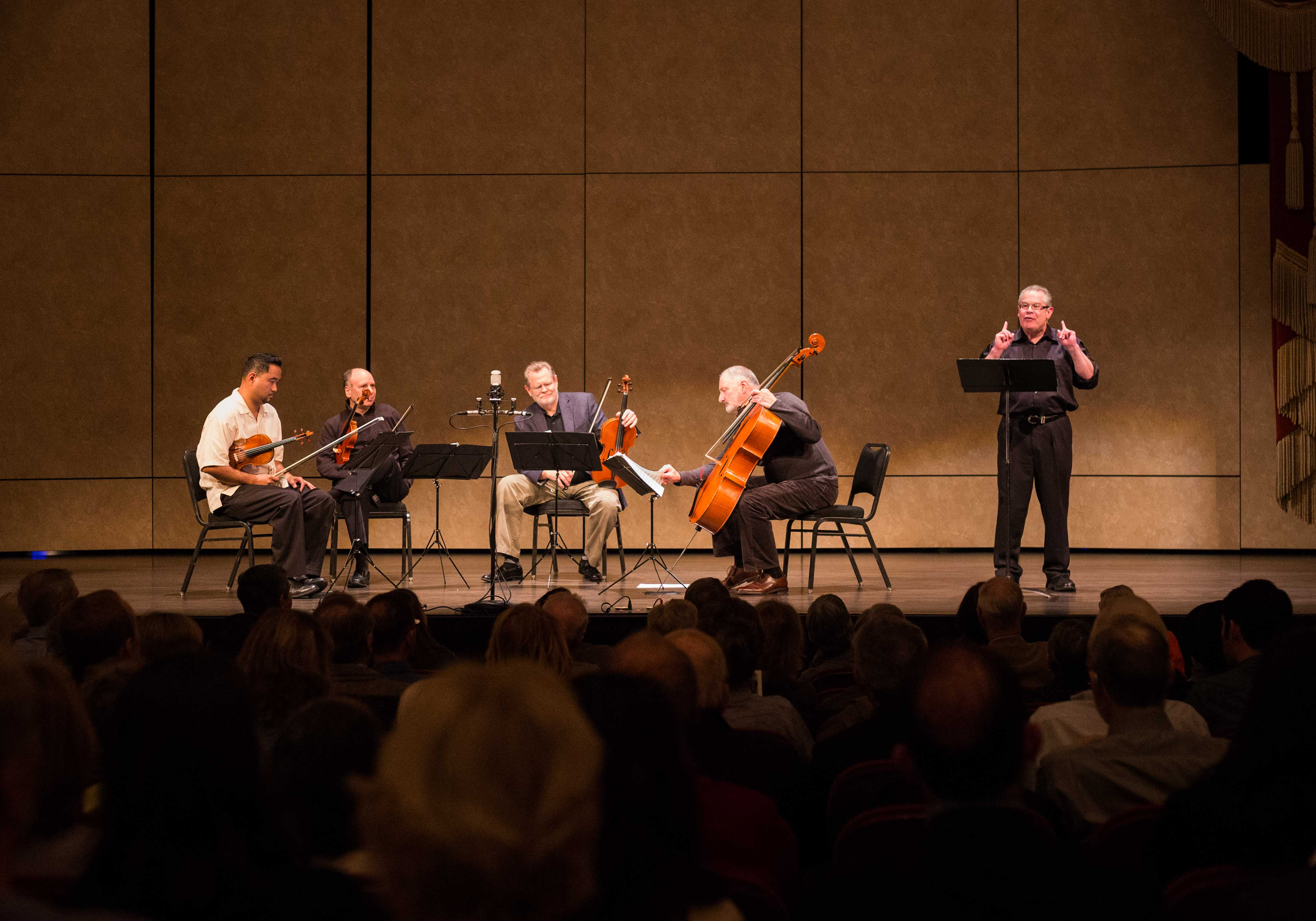 Robert Greenberg and the Alexander String Quartet